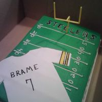 Steelers Fan Birthday Cake   my first cake photo on cc