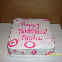 Niece B-Day Cake wasc and buttercreme