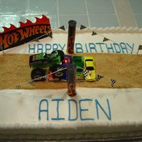 Hot Wheels Birthday Cake   This cake was done for a little boy who loved hot wheels