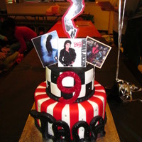 Michael Jackson One of my daugther's best friend LOVES Michael Jackson and wanted a cake in that theme. It was difficult to replicate his image so we...