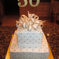 Classy 50Th Cake The lady who received this cake wanted something just in white and gold and wanted it 'classy' for her 50th. Her reaction was...