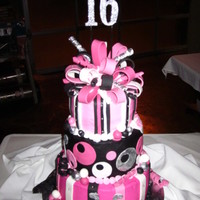 Haley's Sweet 16 This was for my niece's 16th birthday. She wanted pink, black and silver. She LOVED it! Thanks to andlydle on CC for the inspiration...