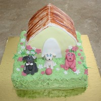 Puppy House Cake birthday cake for my daughter who loves dogs & puppies !!
