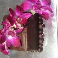 Orchid Cake There was problem after problem with this cake. too much for such a small cake. hahabut it turned out ok. :)it's a chocolate mud with...