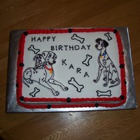 101 Dalmations Cake 1/2 sheet w/butter cream. The characters were BCT's. This was a last minute cake for a friend... but it turned out to be one of my...