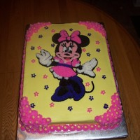 Minnie Mouse Birthday Cake All BC strawberry cake. Done for a friends daughter who loves Minnie Mouse. I tried to do a FBCT on just the outline of Minnie, but it didn...