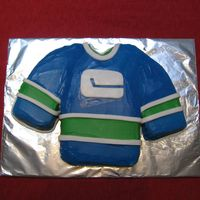 Canucks Jersey Cake