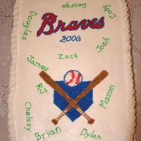 Youth Baseball Cake Made this cake for my nephew's youth baseball team's end of season party. The boys each wanted a piece of cake with their name on...