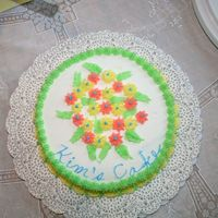 First Cake One of my first cakes from Wilton course 1.
