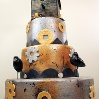 Steampunk Birdhouse Cake Steampunk Birdhouse Cake. This made it into the June 2010 issue of CakeCentral Magazine! Which is a fabulous magazine, BTW! :)