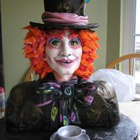 Alice In Wonderland~The Mad Hatter the mad hatter (johnny depp style!)! hope it creeps you out! muhahhahahha! all edible, all hand made! This was for a cake competition (I...