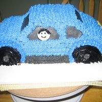 Blue Vw Bug   A cake for a friends son who was getting his license.