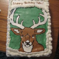 Deer Head   Butter cake, buttercream icing. FBCT of deer head