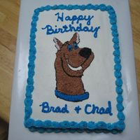 Scooby Doo   Cake for my great nephews.
