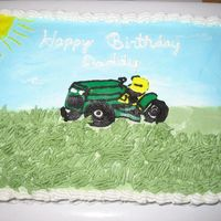 John Deer Mower   White cake, buttercream icing.