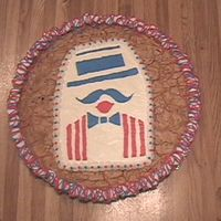 Cookie Cake Barbershop BCT for a singing barbershop chorus picnic...my first BCT too (boy are they fun to make!)