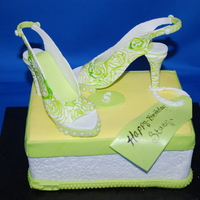 Mini Shoe Box This is a mini cake for a woman who stated she was in the sexy stage of her life. The zipper detail around the bottom of the box is also on...