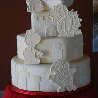 Super Mario Brothers Wedding Cake  A fellow CC member sent me an urgent email - she was getting married in Reno, NV in less than 3 weeks and her cake maker fell through. She...