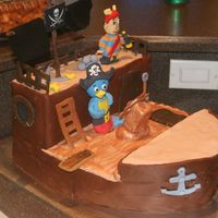 Backyardigans Pirate Ship I made this cake for my son's 4th birthday party. He is a big Backyardigans' fan! Made from three 11x13 cakes. The figures are...