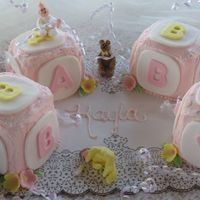 Babies And Blocks Carrot Cake with crusting cream cheese icing. All details made in fondant.