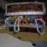 Teasure Chest Cake This is the First time that I have ever done anything like this.Thanks to everyone that has helped me.Next time it will look better.I'...