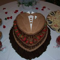 Grooms Cake Choco Cake, fudge filling, a chocolate dream. There was so much chocolate I could smell it standing 10 feet away!