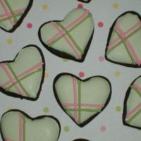 "Mini Heart Tea Cookies about 1""...just playing around. inspired by some plaid hearts on cc but i cant remember which user posted them. thanks for looking!"