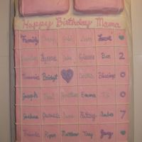 Quilt Cake  I made this for my husband's grandmother. It was her 80th birthday. She makes quilts for all the children and thought this would be a...