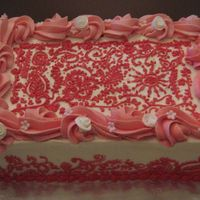 Henna Buttercake with strawberry filling covered with buttercream icing