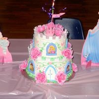Disney Princess Castle - My First Cake This is my first try at cake decorating. I used to have my neighbor do my cakes and wanted to start doing them myself. This cake I made for...