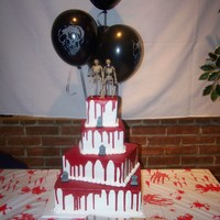 Halloween Wedding This is a cake I did for a Halloween wedding, thanks for looking