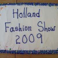 Holland Fashion Show I made three different cakes for the fashion show dinner. This one was confetti. June 2009