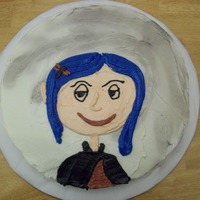 Coraline My attempt at free handing a face. My daughter had a Coraline bday July 2009