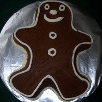 Gingerbread Man Sometimes less is more. I thought the cake needed an originial feel by not overdoing it with frosting.