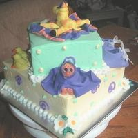 Baby Shower Cake, Angle 3 third angle of the cake.