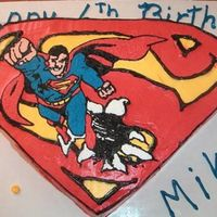 Superman I made this for my son's birthday party this weekend.