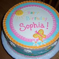 Simple Sunshine Cake buttercream