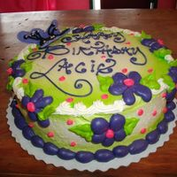 Purple Posies lil simple cute cake