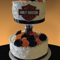 Harley Davidson Wedding In my opinion, there are 3 hard types of WEDDING cakes to do: Harley's, Las Vegas theme and Halloween. This cake was requested and it...