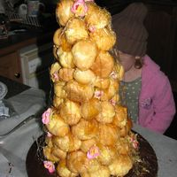 Croqembouche  My first go at making a croquembouche, had never made choux pastries, until 2 days before this, i'm really happy with the way it...