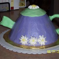 Tea Pot I made this cake for our church luncheon. It is an applesauce spice cake taken from The Cake Mix Doctor book. Iced with bc and smoothed...