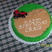 Farmer's Birthday This was for a farmer friends birthday, Snikerdoodle cake torted with buttercream frosting and graham cracker crumbs for the road.