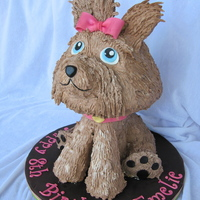 Yorkshire Terrier  I made this Yorkshire terrier cake using plumbing parts from the hardware store as a skeleton. The head is a Wondermold cake, the front and...