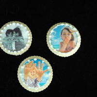 Teacher Appreciation Cookies.  Cookies made for teachers at the end of year. I used edible images of my children on sugar cookies, with RI borders. I layered these...