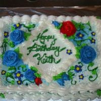 Birthday Cake ¼ sheet white cake with buttercream frosting