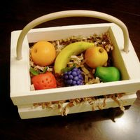 Marzipan Fruit Hand made fruit in basket