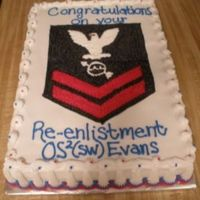Navy Re-Enlistment this was done for a girl that I worked with.