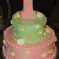 Little Girls 1St Birthday This is for a friend of mine for her little girls 1st birthday. She picked on out on CC that she like and I modified it. Can't...