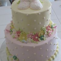 Baby Shower Somebody saw a cake that I had done and wanted to same one. I no longer had teh rattles that I had used the first time so i decided to...