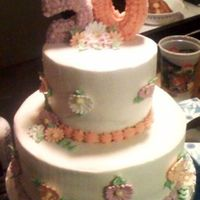 Mom's 50Th Birthday Cake I did this for my mom's surprise party. She loved it. Not that best pic, I didn't have my camera handy and had to use my cell...